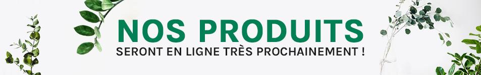 Nos produits seront en ligne très prochainement !