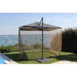 Moustiquaire pour parasol 3x3 -gris