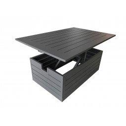 Castille table basse  alu - grey