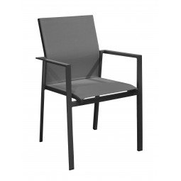 Delia fauteuil empilable alu/tpep -