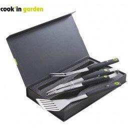 Coffret 3 pièces aimant: pince, spatule, fourchette