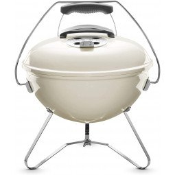 Smokey joe premium charcoal grill blanc