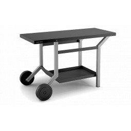 Table roulante noir gris pour plancha