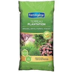 Terreau plantation, arbustes à fleurs, conifères FERTILIGENE 40L