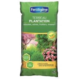 Terreau plantation, arbustes à fleurs, conifères FERTILIGENE 70L