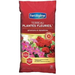 Terreau plantes fleuries et géraniums FERTILIGENE 40L