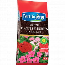 Terreau geraniums et plantes fleuries Fertiligène 40L