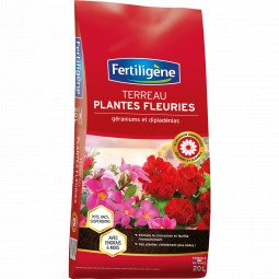 Terreau geraniums et plantes fleuries Fertiligène 20L