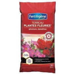 Terreau plantes fleuries et géranimus FERTILIGENE 20L