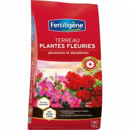 Terreau geraniums et plantes fleuries Fertiligène 70L