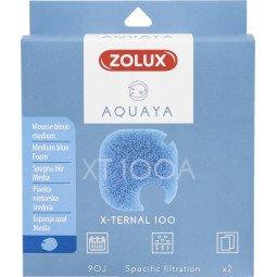 Mousse bleue xternal 100 x2 aquaya