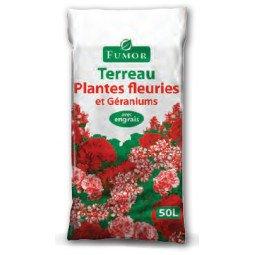 Terreau plantes fleuries et géraniums FUMOR 50L
