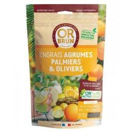 Engrais agrumes, palmiers & olivier granulés OR BRUN 650g