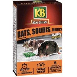 Rat, souris et mulots céréales KB 125G
