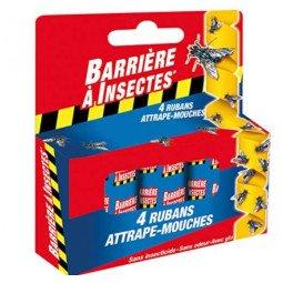 Ruban Attrape-Mouches (4 rouleaux) BARRIÈRE A INSECTES