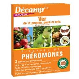 Phéromones contre le ver de la pomme, poire et noix DECAMP' 10 sachets de 2 capsules