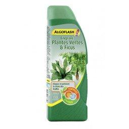 Engrais Plantes Vertes & Ficus liquide ALGOFLASH 500ml