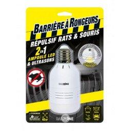 Répulsifs rats & souris Ampoule LED & Ultrasons 2en1 BARRIÈRE A RONGEUR