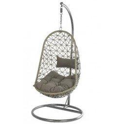 Chaise suspendue résine BOLOGNA gris
