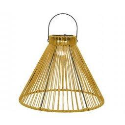 Solar lampe suspendue jaune