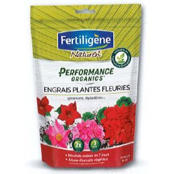 Engrais plantes fleuries, géraniums, dipladénias Performence Organics FETILIGENE 700g