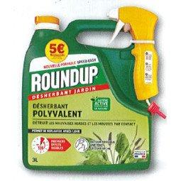Désherbant jardin polyvalent prêt à l'emploi ROUNDUP 3L