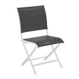 Chaise pliante Élégance graphite