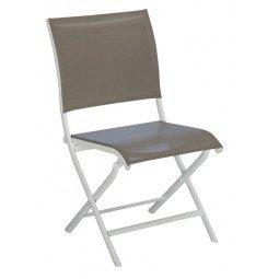 Chaise pliante Élégance taupe