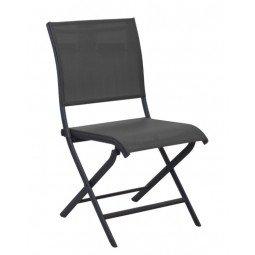 Chaise pliante Élégance graphite/graphite