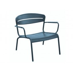 Fauteuil Lounge Haora bleu