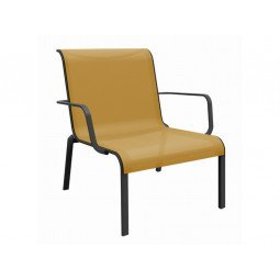 Fauteuil lounge Cauro moutarde