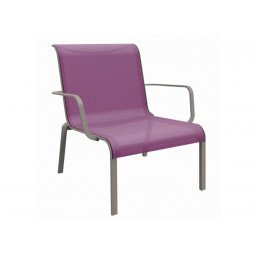 Fauteuil lounge Cauro lilas