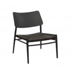 Chaise Lounge Dublin graphite/noir