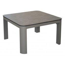 Table basse Eole 60x60 cm, plateau Trespa® taupe