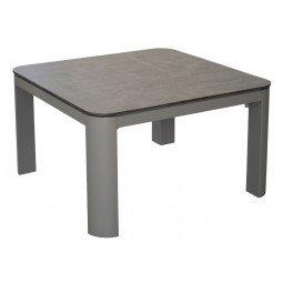 Table basse Eole 80 x 80 cm, plateau Trespa® taupe