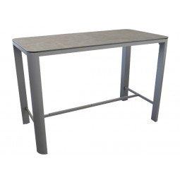 Table haute Eole 150 cm, Plateau Trespa® taupe