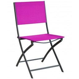 Chaise Pliante Dream grey/framboise