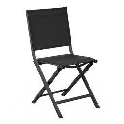 Chaise pliante Thema grey/noir