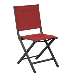 Chaise pliante Thema grey/rouge