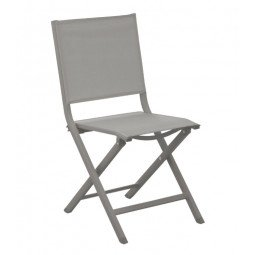 Chaise pliante Thema taupe / taupe