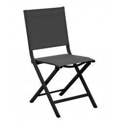 Chaise pliante Thema graphite/noir