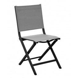Chaise pliante Thema graphite/perle