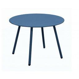 Table basse Rio Ø 50 cm bleu