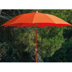 Parasol droit Ø 270 cm paprika