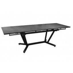 Table Vita 180/230/280 cm, plateau Kedra® graphite/gris
