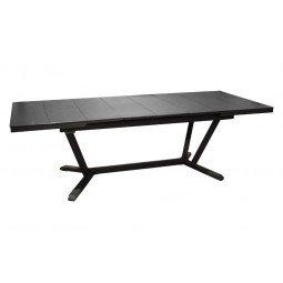 Table Vita 180/240 cm, plateau à lames Kedra® graphite/gris
