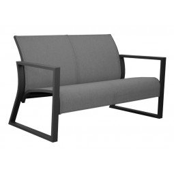Canapé Lounge Quenza graphite/gris