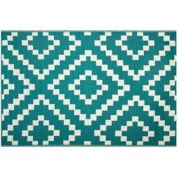 Tapis d'extérieur 270 x 180 cm bleu