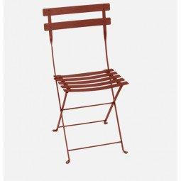 Chaise métal Bistro ocre FERMOB