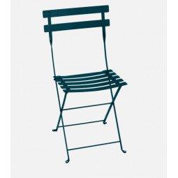 Chaise métal Bistro bleu acapulco FERMOB